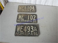 1951 LICENSE PLATES