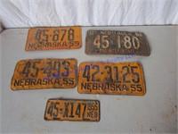 1950'S LICENSE PLATES