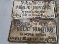 KANSAS PUBLIC HUNTING SIGNS