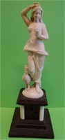 D - ANTIQUE HAND CARVED IVORY NUDE WOMAN STATUE