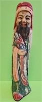 """ANTIQUE BONE HAND CARVED ASIAN FIGURE 7"""" TALL"""