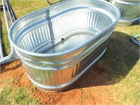 "Oval Stock tank, metal, 24"" x  46"" x  24"" small"
