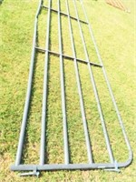 16' 5 bar gate (Grey) bent bottom bar
