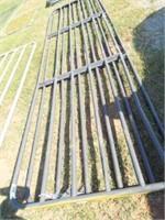 16' 6 bar Gate  (Grey) bent bars