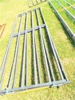 12' gate (Grey) bent bars