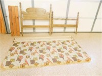 Twin Size Bed; Head & Footboard