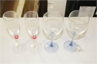 4 Winter Glass Mugs, 1 Winter Glass, 4 Wine Glasse