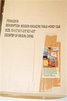 2 - Wooden Magazine Tables New In Box