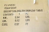 English DropLeaf Table