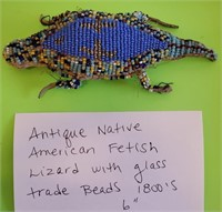 D - ANTIQUE NATIVE AMERICAN FETISH LIZARD WITH