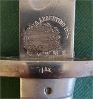 D - GERMAN BAYONET 1889 ARGENTINE 1809 MARKED
