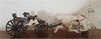 47 - UNIQUE HORSE & BUGGY STATUE