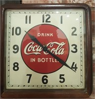 47 - 1930'S VINTAGE WIND UP COCA  COLA  CLOCK
