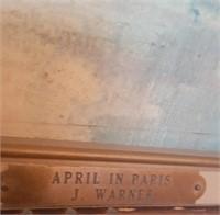 47 - 1960'S J. WARNER APRIL IN PARIS PAINTING