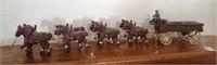 47 - UNIQUE CLYDESDALE HORSES & WAGON