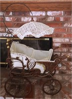 47 - ANTIQUE BABY CARRIAGE