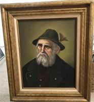 47 - SIGNED & FRAMED OLD MAN PICTURE