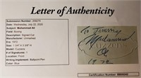 D  - MUHAMMAD ALI HAND SIGNED AUTOGRAPH WITH JSA
