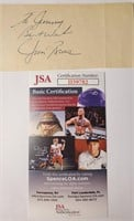 D - JOE DIMAGGIO HAND SIGNED AUTOGRAPH WITH JSA