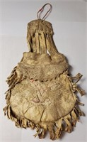ANTIQUE NATIVE AMERICAN HANDMADE BAG WITH HUMAN