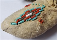 ANTIQUE NATIVE AMERICAN HANDMADE BEADED CHILDRENS