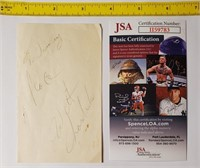 WILT CHAMBERLIN HAND SIGNED AUTOGRAPH WITH JSA COA