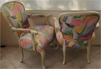 48 - PAIR OF COLORFUL ARM CHAIRS