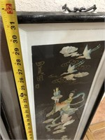 47 - PAIR OF ASIAN ART FRAMED PICTURES
