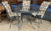 798 - BRIGHT FLORAL PATIO SET