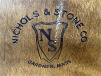 48 - NICHOLS & STONE CO. WOOD ROCKING CHAIR