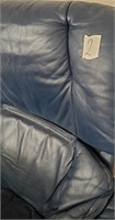 48 - BLUE DESK CHAIR WITH OTTOMAN