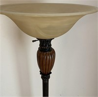 48 - FROSTED GLASS STANDING LAMP