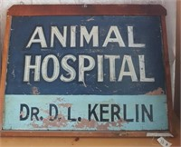 47 - DR DL KERLIN ANIMAL HOSPITAL SIGN