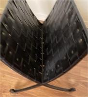 48 - QUAINT GLASSTOP MAGAZINE TABLE