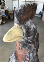 47 - 4FT TALL UNIQUE BLACK ROOSTER