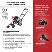 Southland  SWSTM4317  Wheeled String Trimmer, Blac