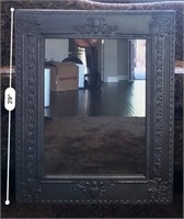 56 - LARGE ORNATE SILVER/GREY MIRROR