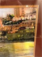 56 - SIGNED & FRAMED GHIRARDELLI PRINTS