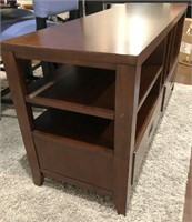56 - NEAT SIDE TABLE WITH STORAGE DRAWERS