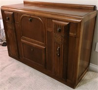 56 - UNIQUE WOOD SIDEBOARD