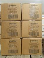 """6 BOXES: PLASTEC 6"""" SQUARE PLASTIC SAUCERS"""