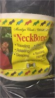 Pair of Blue Neck Bone Pillows - NIP