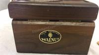 Laser craft Engraved Walnut Trinket Box & Small