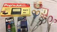 Pop N Jot, Scissors & More