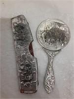 Vintage Mini Mirror & Comb Set