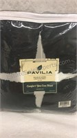 Pavilia Sherpa Throw Blanket - Black