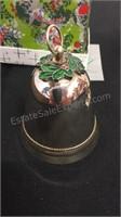 Pair of Silver Plate Xmas Bells