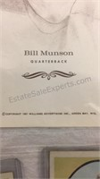 Bill Munson Memorabilia- Autographed Pictures,