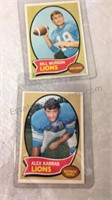 Vintage Lions Football Cards