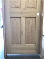 """30"""" LH 6-PANEL OAK PRE-HUNG INTERIOR DOOR"""